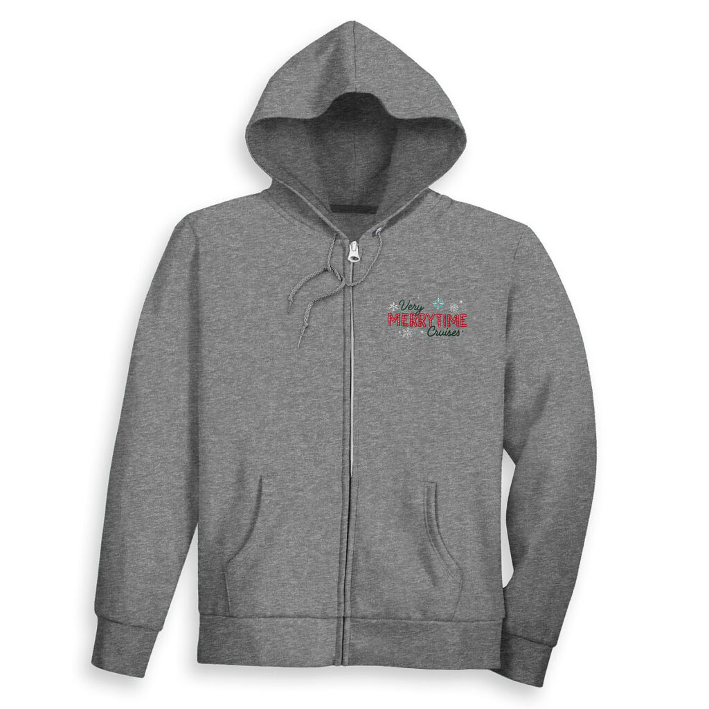 DCL Holiday Zip Hoodie Adult Front
