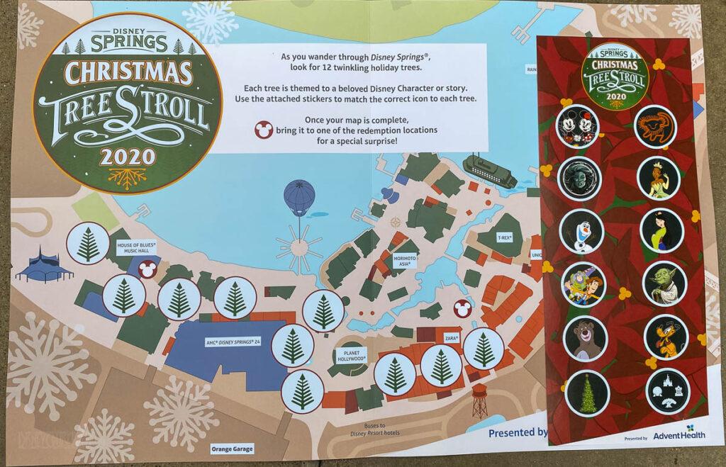 Disney Springs Christmas Tree Stoll 2020 Map