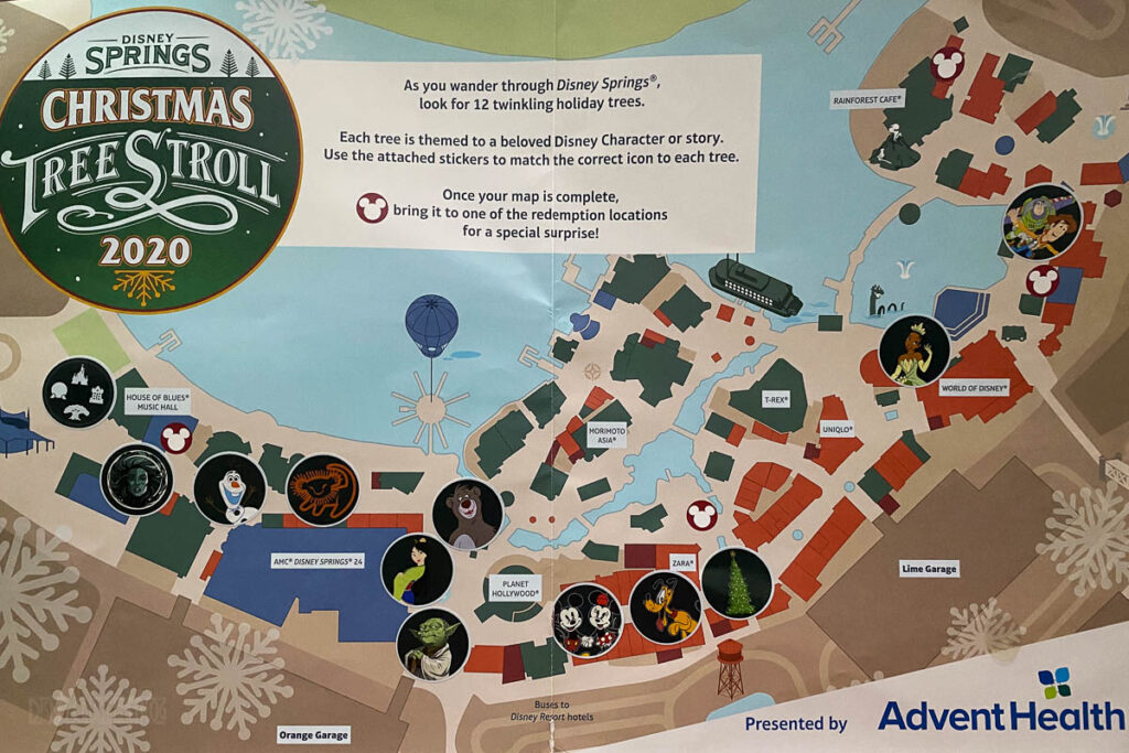 Disney Springs Christmas Tree Stoll 2020 Map Completed