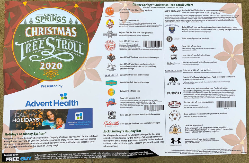 Disney Springs Christmas Tree Stoll 2020 Map Offers