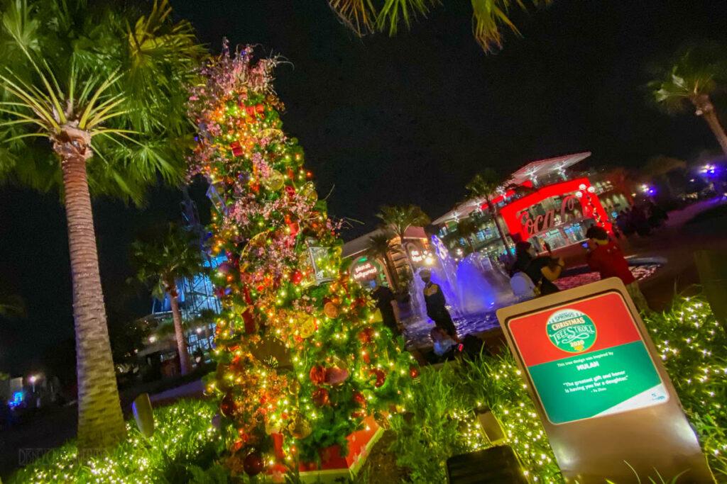 Disney Springs Christmas Tree Stoll 2020 Mulan