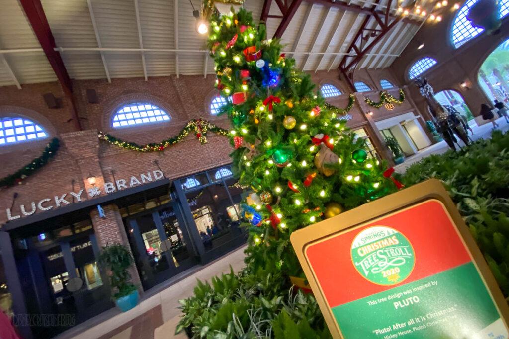 Disney Springs Christmas Tree Stoll 2020 Pluto
