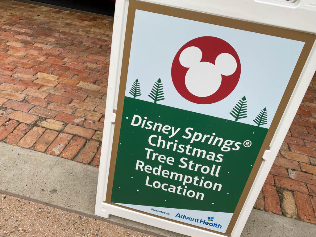 Disney Springs Christmas Tree Stoll 2020 Redemption Location