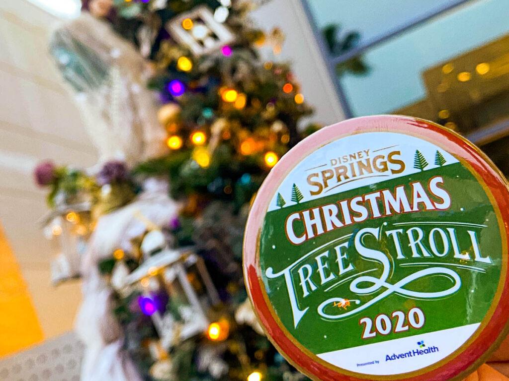 Disney Springs Christmas Tree Stoll 2020 Reward Button