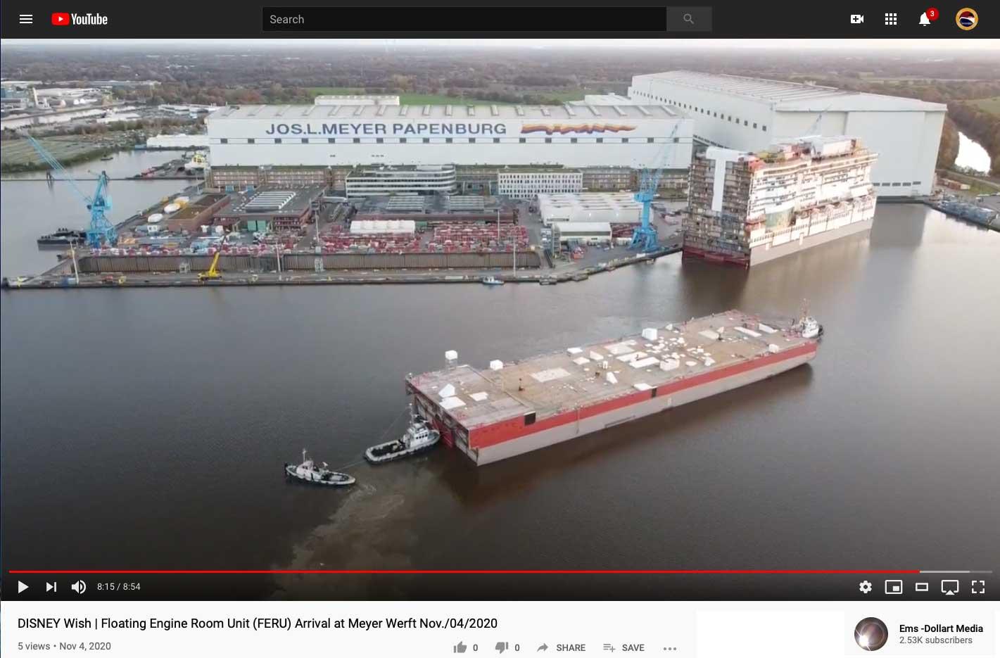 Disney Wish FERU Meyer Werft Papenburg Germany 20201104