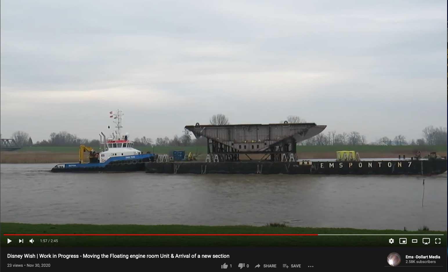 Disney Wish FERU New Block Meyer Werft Papenburg Germany 20201130
