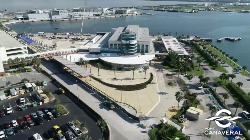 Port Canaveral CT8 Renovation Update 20201112 Arrival Plaza