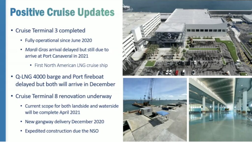 Port Canaveral CT8 Renovation Update 20201112 Status