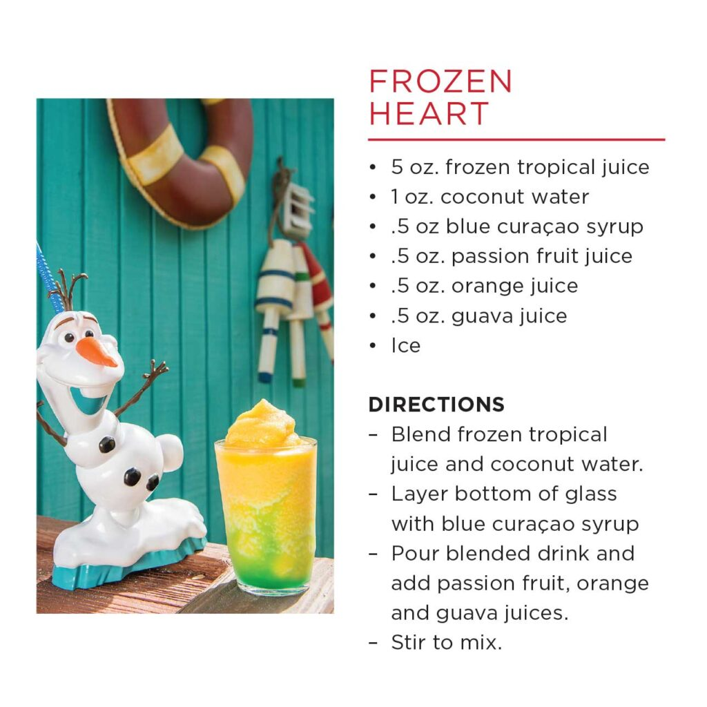 DCL Summertime Freeze Recipe Frozen Heart