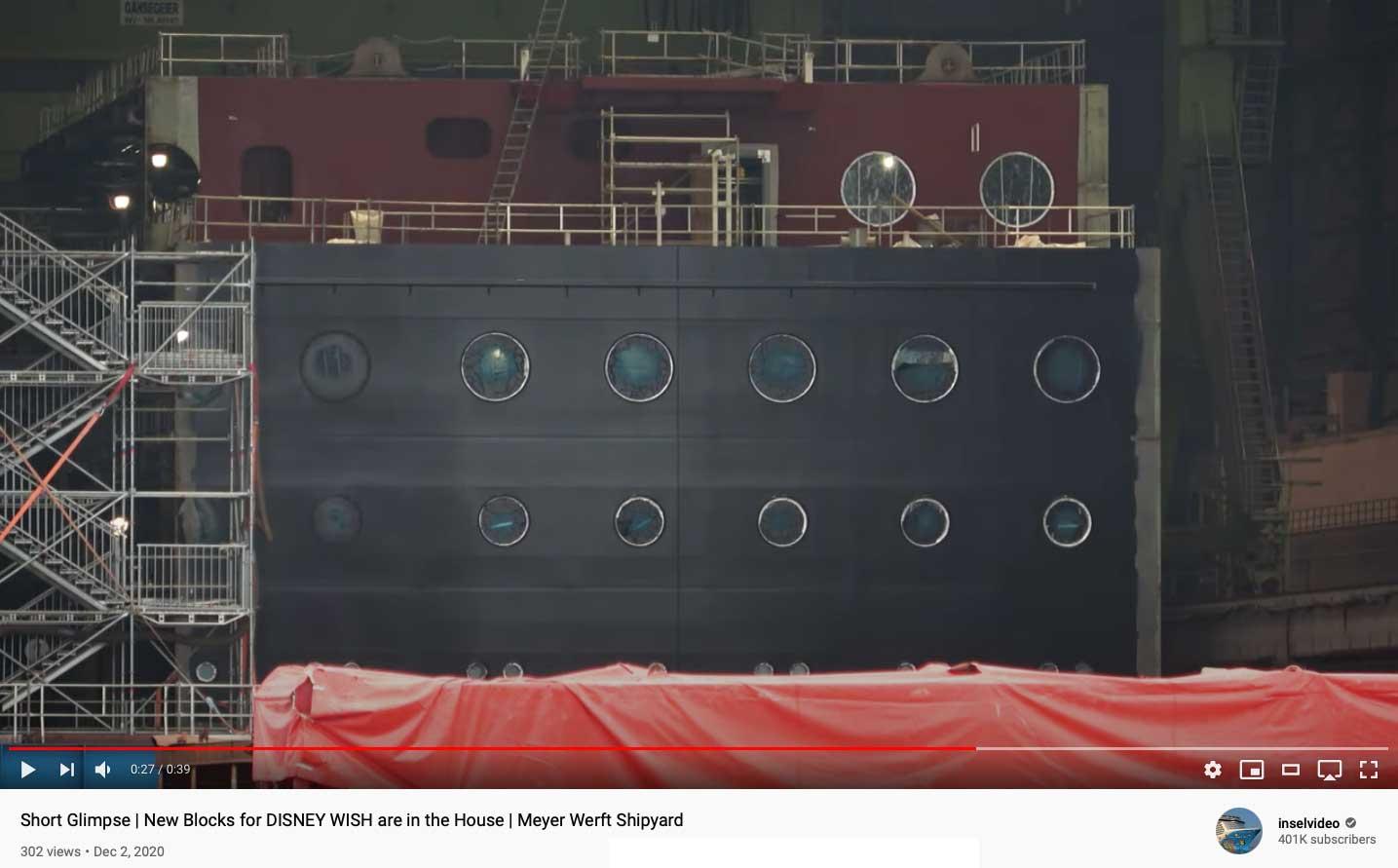 Disney Wish Block Meyer Werft Inselvideo 20201128