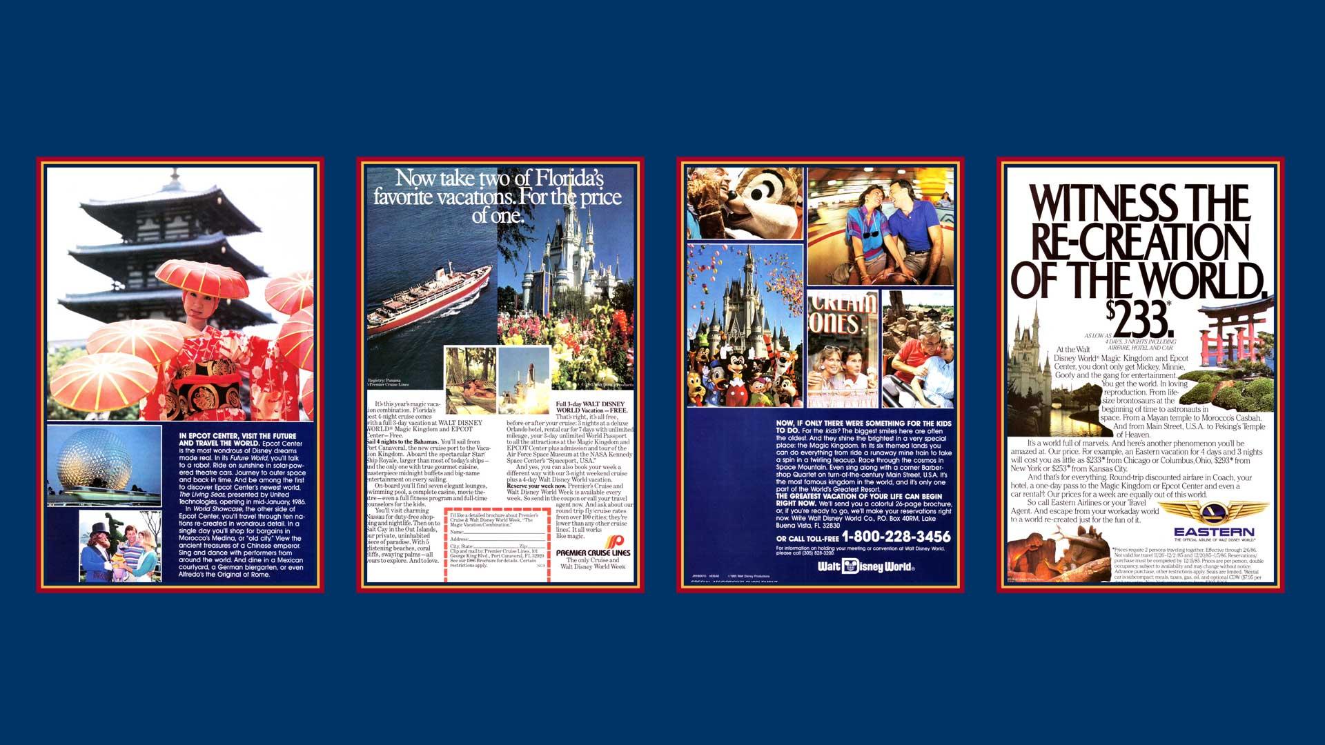 Premier Cruise Lines Walt Disney World 1985 Advertisement