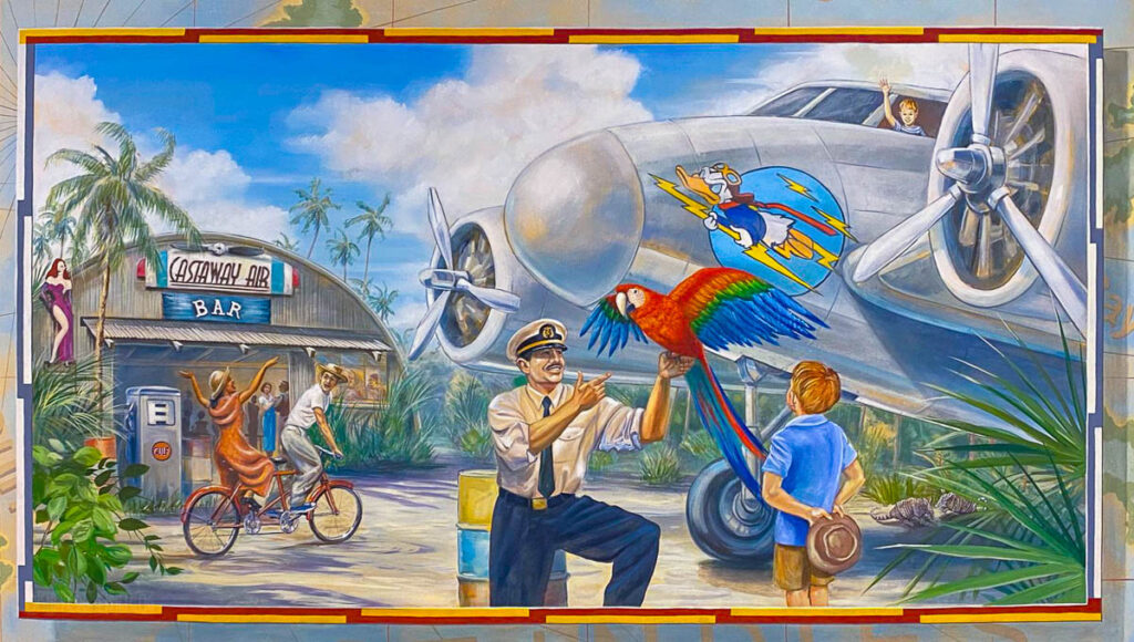 DCL CT8 Luggage Area Mural Castaway Air Bar