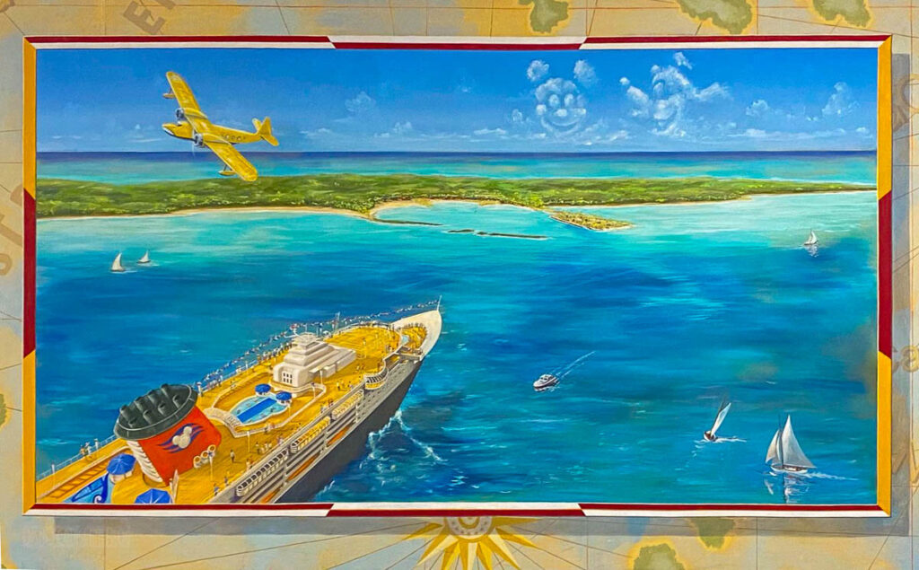 DCL CT8 Luggage Area Mural Castaway Cay Arrival
