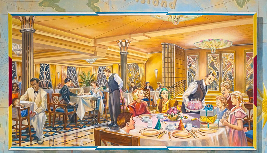 DCL CT8 Luggage Area Mural Lumiere's