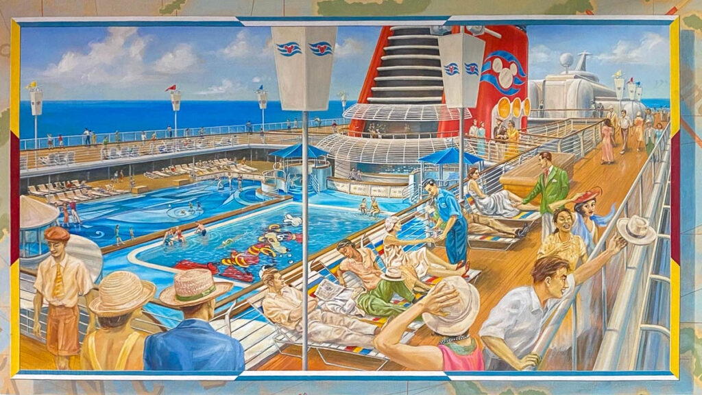 DCL CT8 Luggage Area Mural Pool Deck