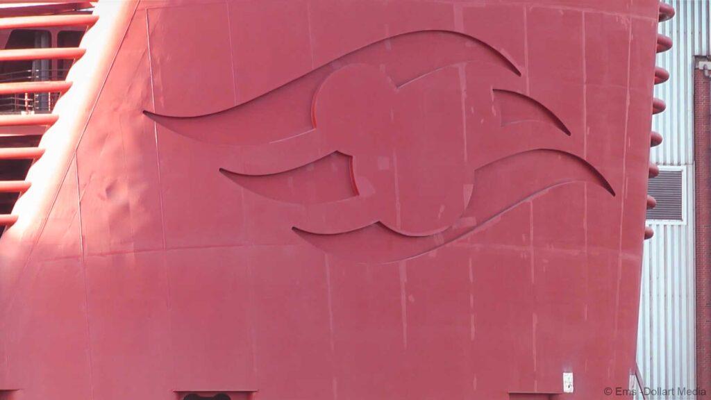 Disney Wish Meyer Werft Funnel Arrives Ems Dollart Media 20210113