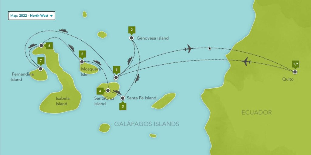 Galapagos Islands Expedition Cruise North West 2022