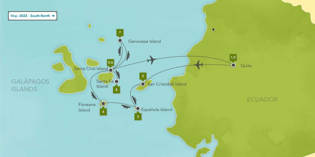 Galapagos Islands Expedition Cruise South North 2022