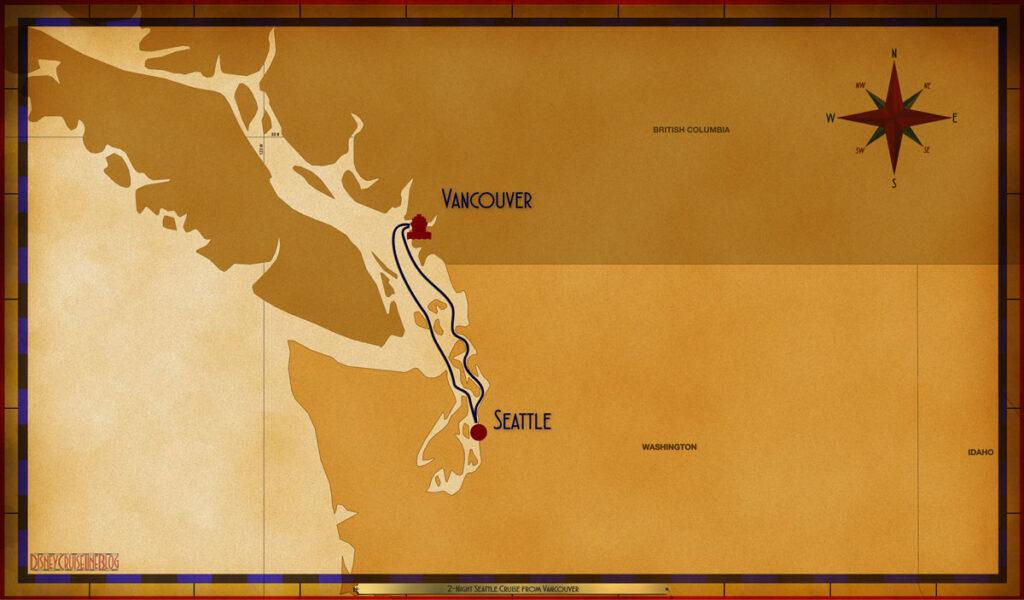 Map Wonder 2 Night Alaskan VAN SEA