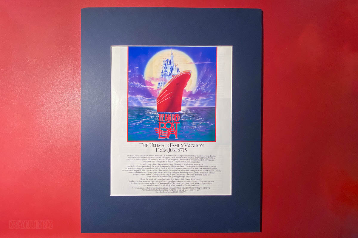 Disney Files 1991 Big Red Boat Ad