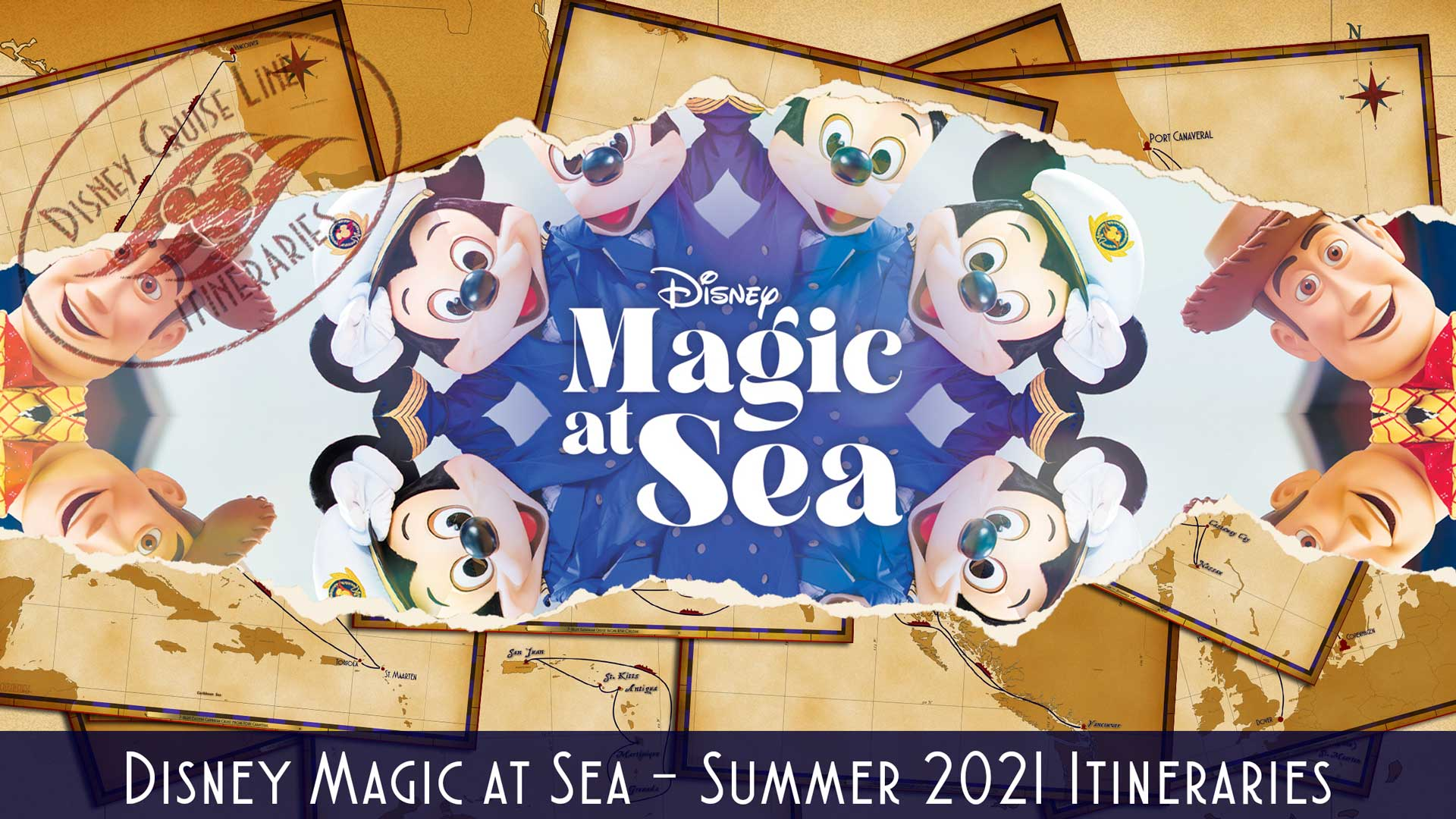 DCL Itinerary Release Disney Magic At Sea UK Summer 2021