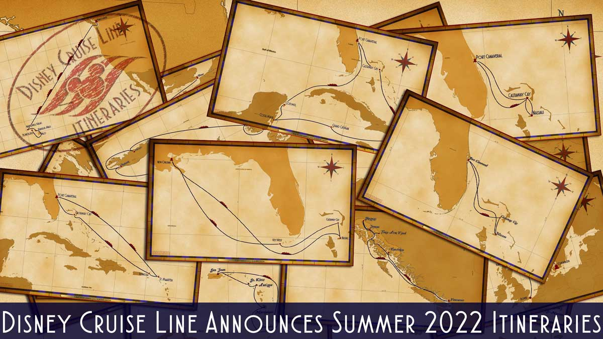 DCL Itinerary Release Summer 2022