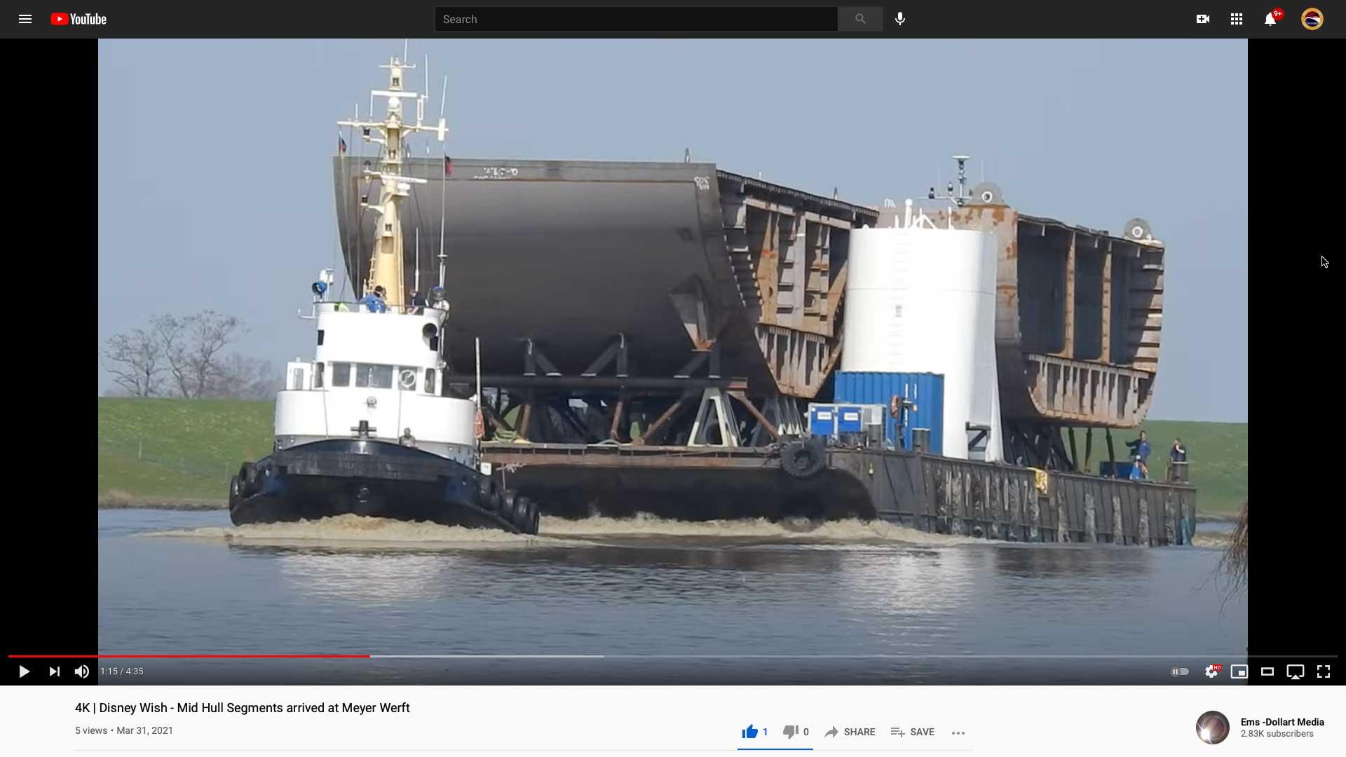 Disney Wish Mid Hull Superstructure Meyer Werft Ems Dollart Media 20210331
