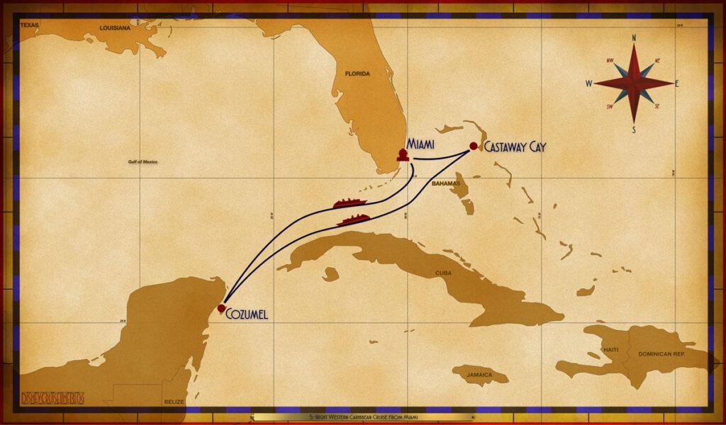 Map Dream 5 Night Western Caribbean MIA GOC SEA CZM SEA