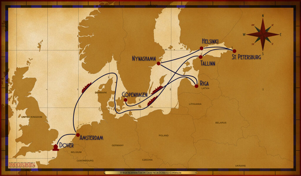 Map Magic 11 Night Northern European DVR AMS SEA SEA TAL LED LED HEL NYN RIX SEA COP