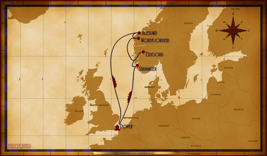 Map Magic 7 Night Norwegian Fjords DVR SEA AES NFD EDF SVG SEA