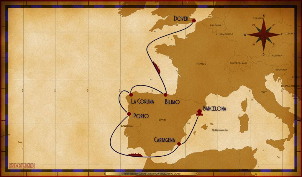 Map Magic 7 Night Western Europe BCN CRT SEA LEI LCG BIO SEA DVR