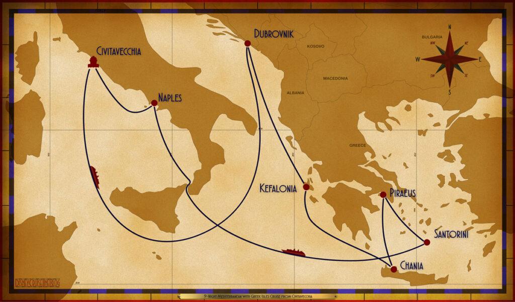 Map Magic 9 Night Greek Isles CVV SEA DBV ARM SDH ATH JTR SEA NAP