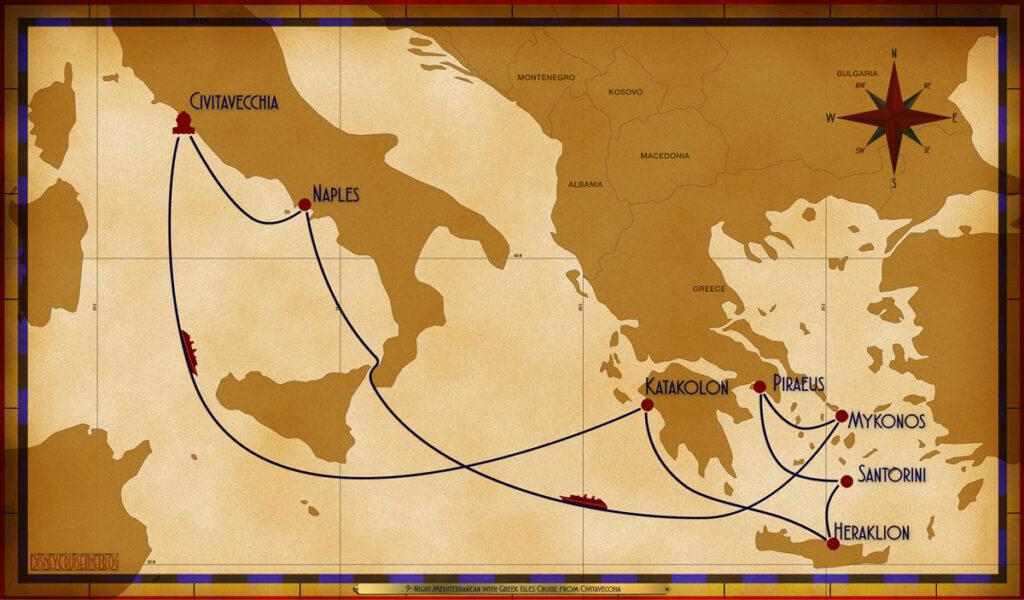 Map Magic 9 Night Greek Isles CVV SEA KAK HER JTR ATH JMK SEA NAP