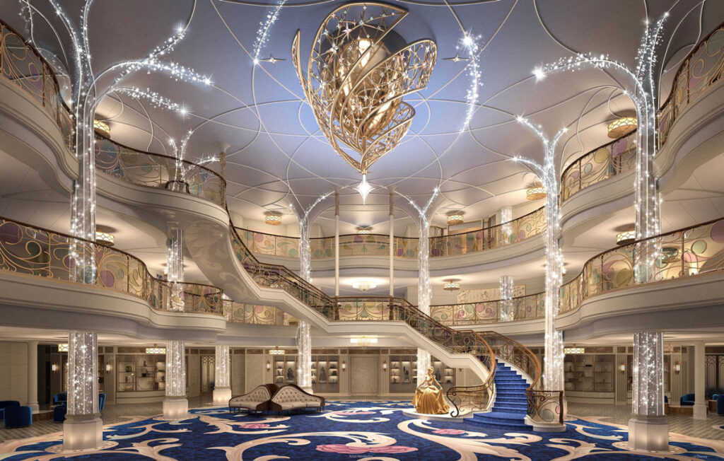 DCL Disney Wish Grand Hall Rendering