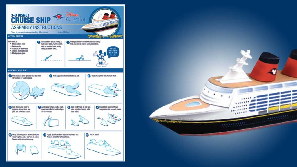 DCL Paper Craft 3D Disney Cruise Line Ship