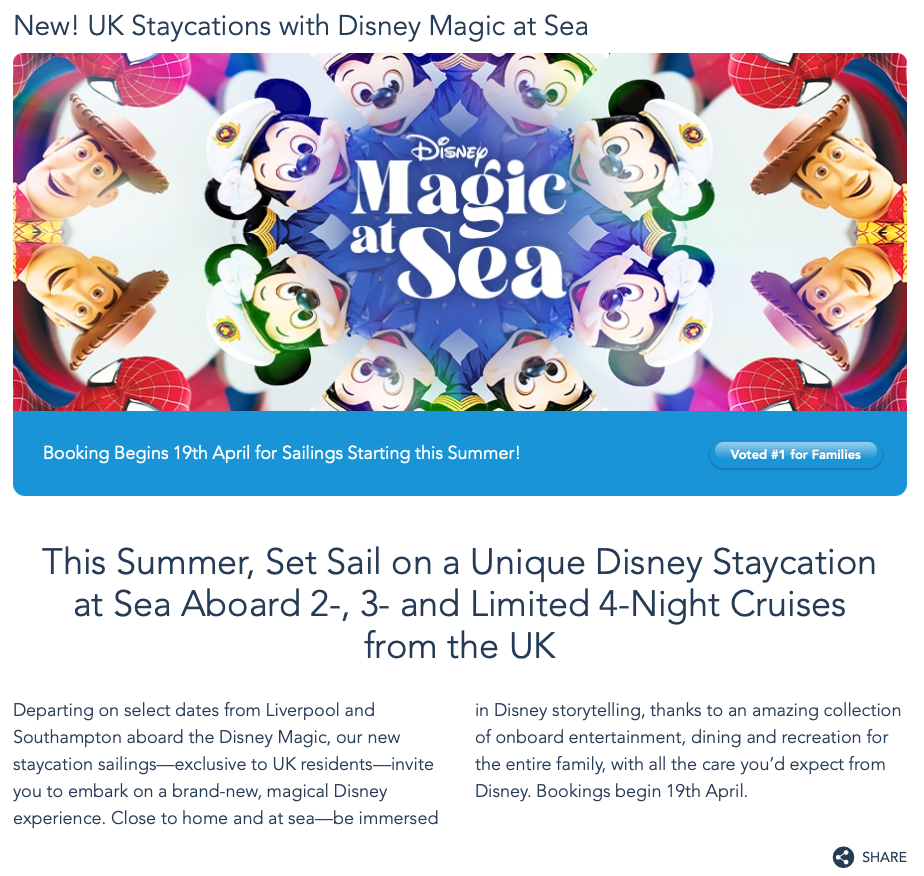 DCL UK Staycations Overview 20210413