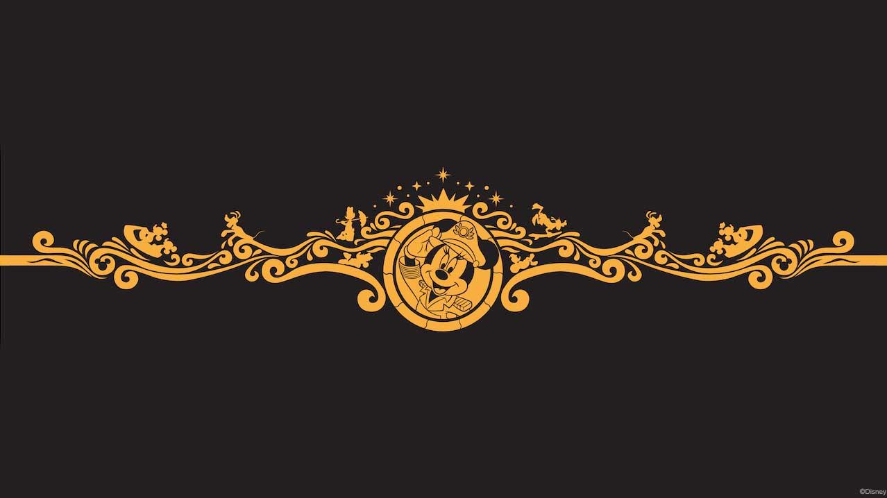 Disney Wish Captain Minnie Bow Scrollwork