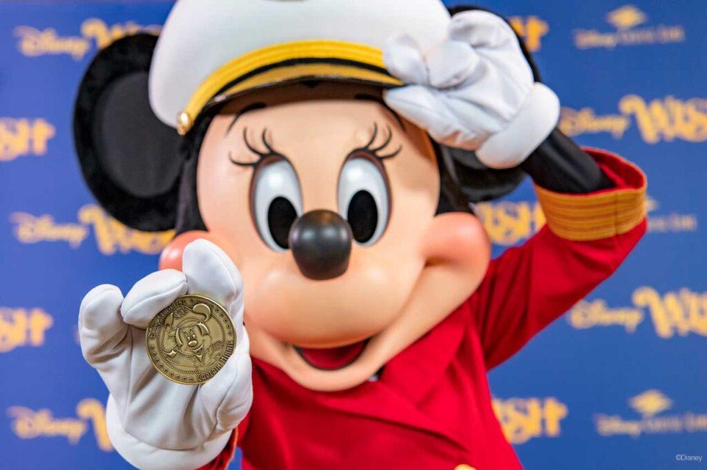 Disney Wish Captain Minnie Keel Coin 1
