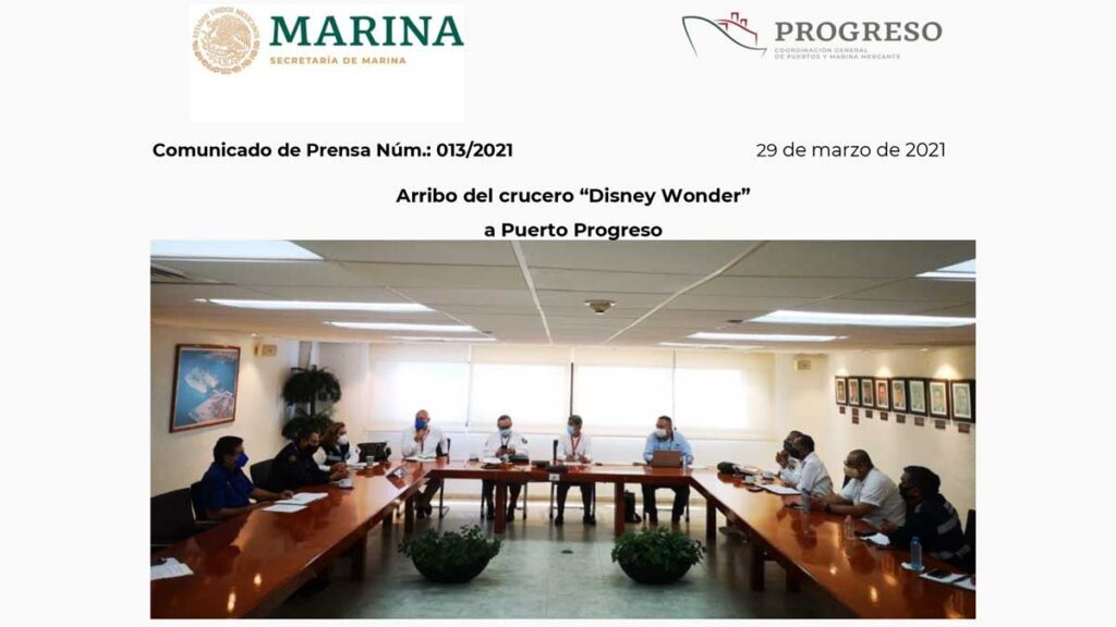 Disney Wonder Port Progreso 20210329