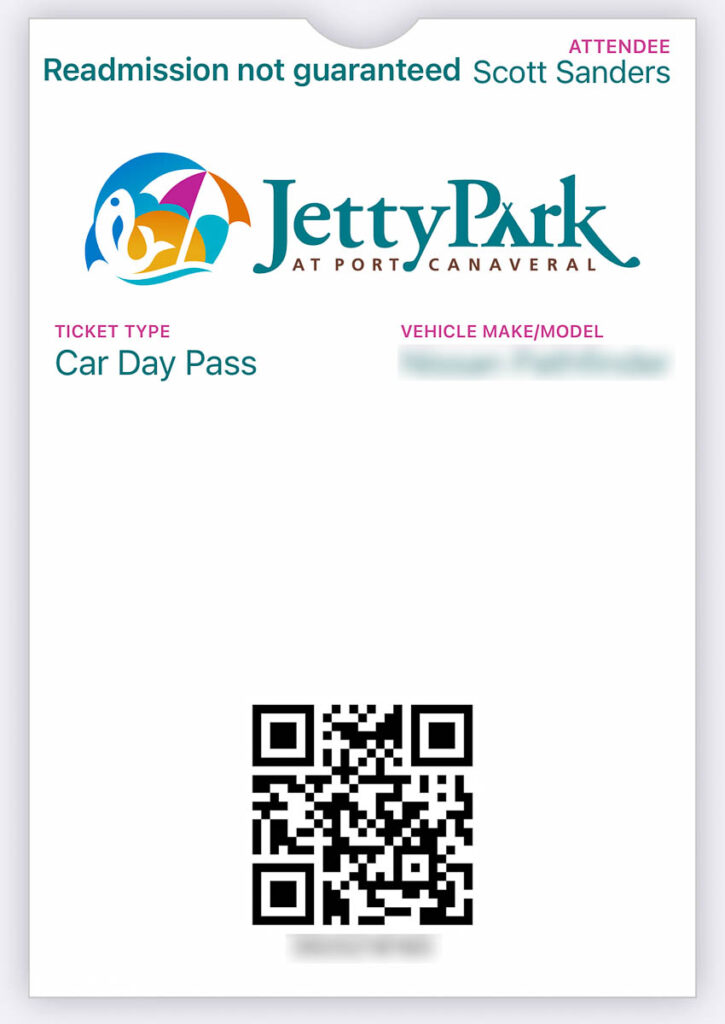 Jetty Park Car Day Pass QR Code
