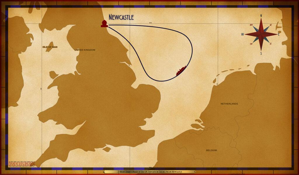 Map Magic 2 Night UK Staycation NCL SEA