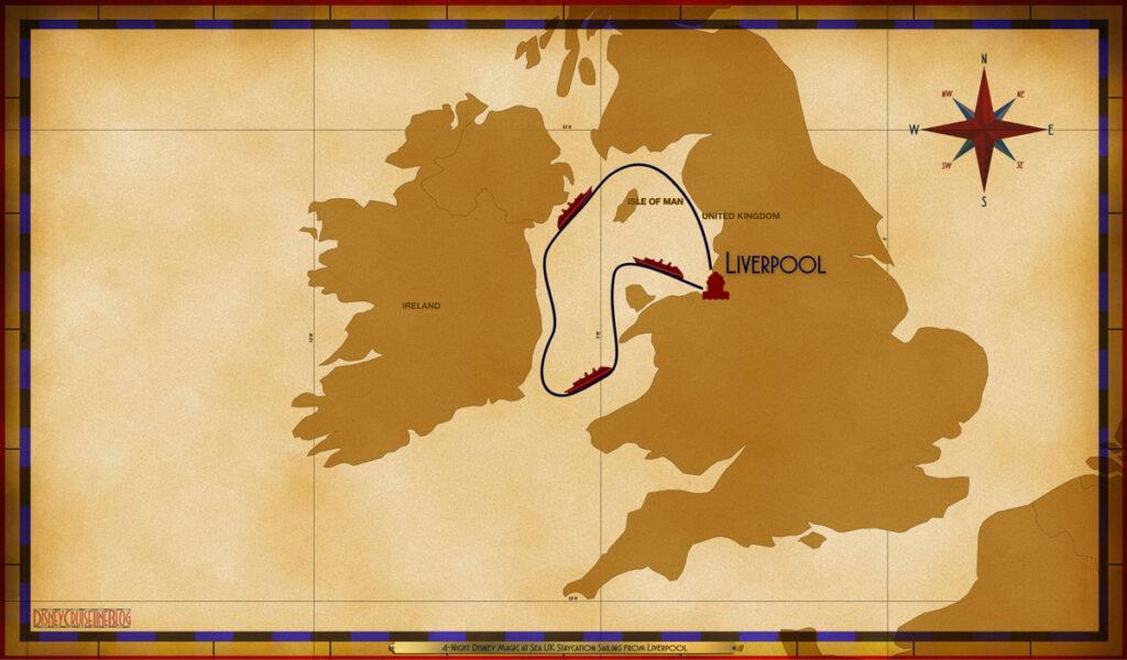 Map Magic 4 Night UK Staycation LVP SEA SEA SEA