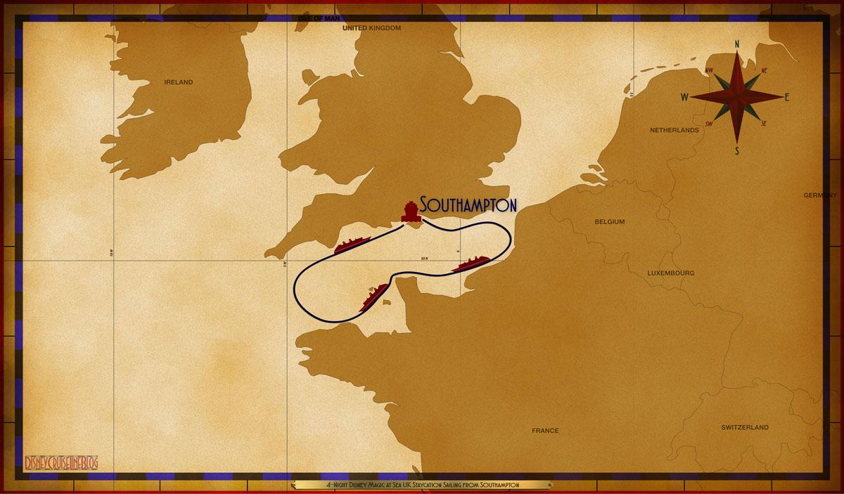 Map Magic 4 Night UK Staycation SOU SEA SEA SEA