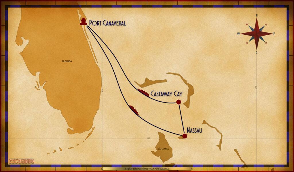 Map Wish 5 Night Bahamian PCV SEA NAS GOC SEA