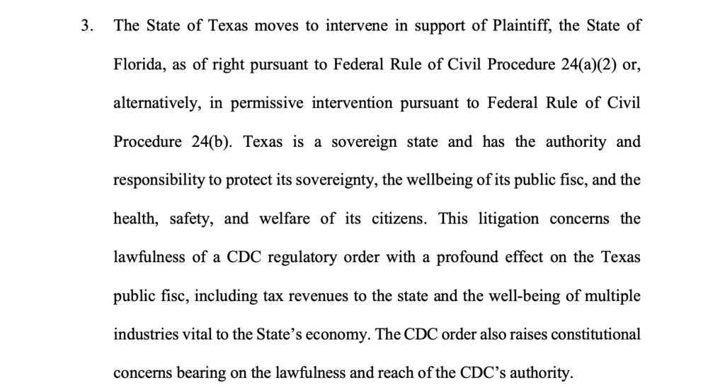 FL Vs HHS CDC Complaint CSO Texas 20210505