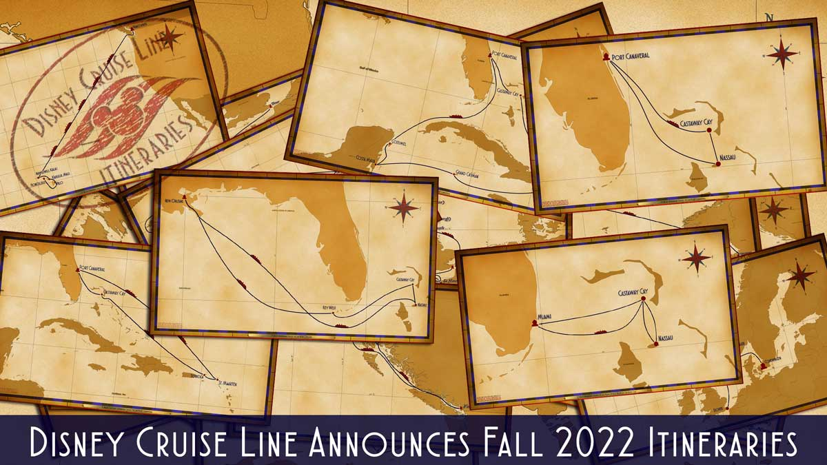 DCL Itinerary Release Fall 2022