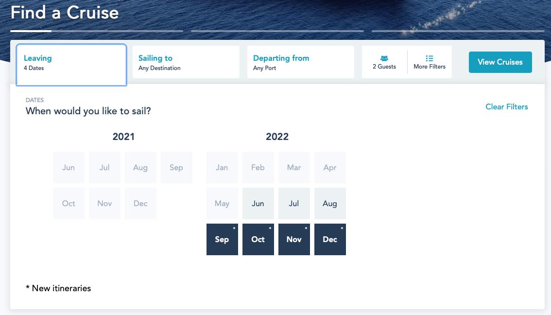 DCL Summer 2022 Online Booking Platinum 20210621