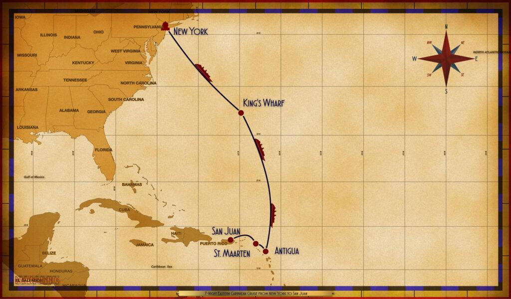 Map Magic 7 Night Eastern Caribbean NYC SEA KWF SEA SEA ANU SXM SJU