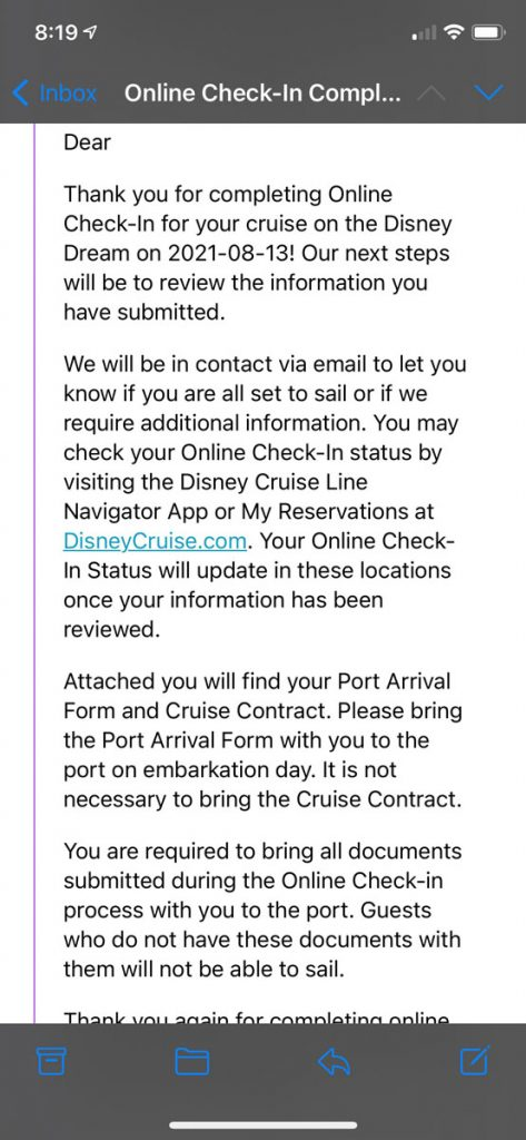 DCL Online Checkin 2021 11