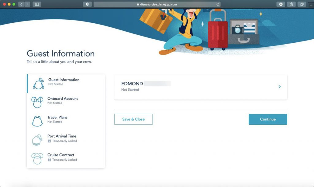DCL Online Checkin 2021 2